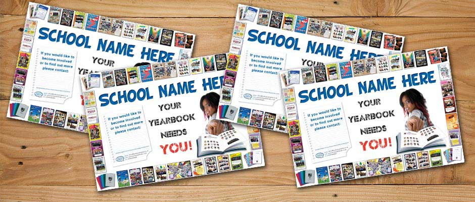 free personalised yearbook promotion posters
