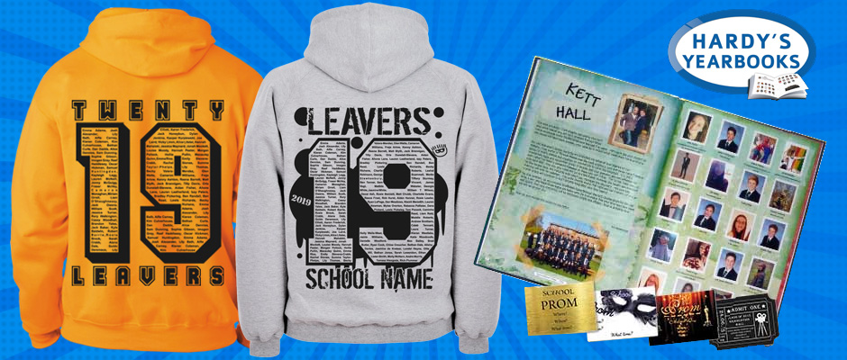 School leavers hoodies and yearbooks combo offer