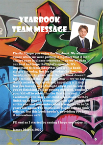 Year 11 sample yearbook page y11-p10