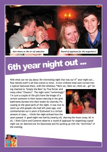Year 13 sample yearbook page y13-p3a