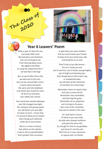 Year 6 sample yearbook page y6-p8