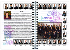 Sample year book spreads 13