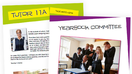 Free school yearbook leavers book templates hardy 39 s for Templates for yearbook pages