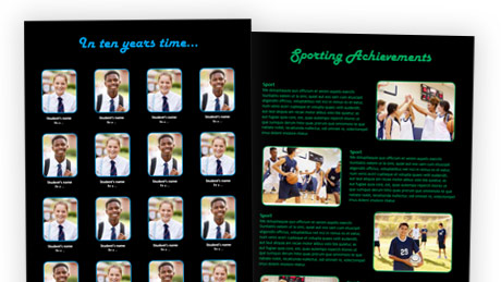 Neon Lights Theme School Yearbook Templates