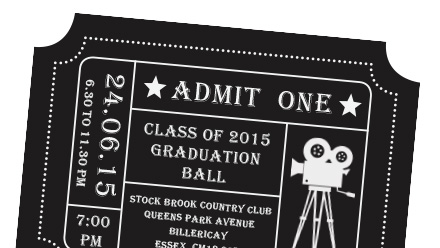 School Yearbooks and Leavers Books from 5 – Prom Ticket Template