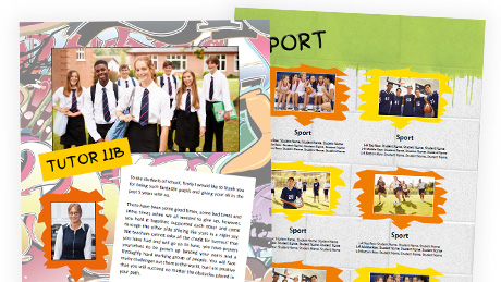 Street Theme School Yearbook Templates
